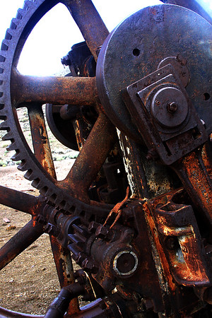 mining machinery at Berlin ghost town,NV