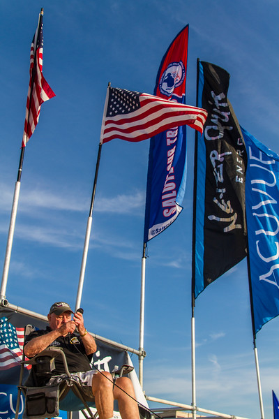 2015 Connie N Steve Wilch, stage, flags