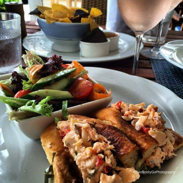 Lobster Roll at Four Seasons Nevis!