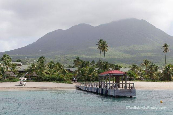 The dock at Four Seasons Nevis.