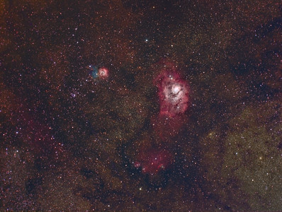 M8 and M20 -- Sagittarius Constellation