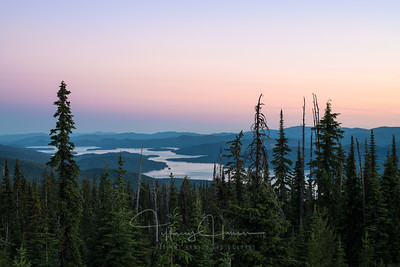 Pastel Sunset over Priest Lake