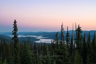 Pastel Sunset over Priest Lake