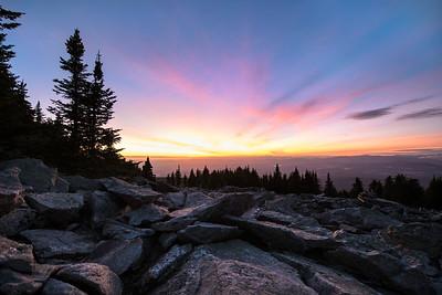 Sunset from Mount Spokane