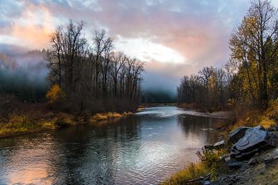 Foggy Coeur d'Alene River