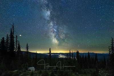 Milky Way Galaxy Over Priest Lake, Idaho