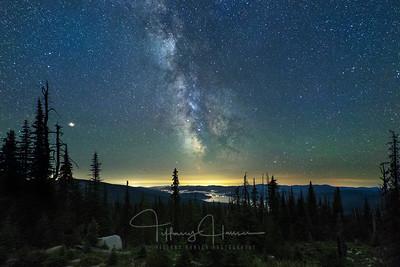 Milky Way Galaxy Over Priest Lake, Idaho