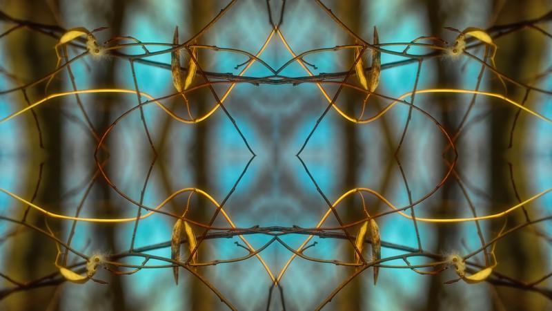Mystic Blue Woven Twigs