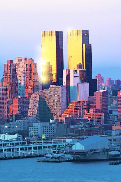 NYC Sundown-Time Warner Towers