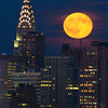 Chrysler Building and the Sturgeon Full Moon