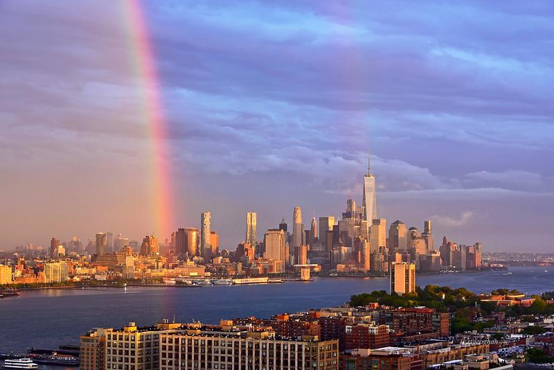NY-NJ Rainbow Scene