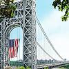 American Flag-George Washington Bridge