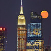 Buck Moon over Manhattan