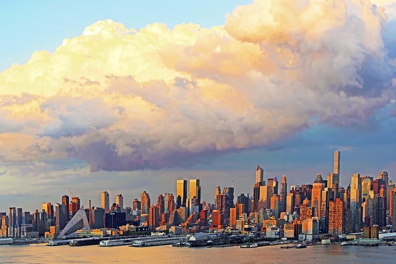 Manhattan Sundown Clouds