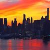 NYC Sunrise Silhouette