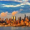 Manhattan Sundown Blue and Gold