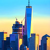 NYC Trade Center Sundown