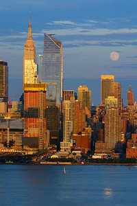 NYC Sundown Moonrise