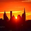 NYC Sunrise in Orange and Yellow