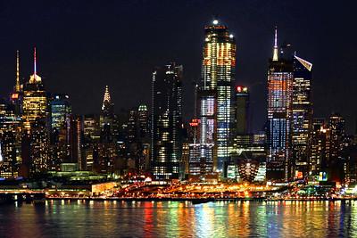 NYC NIght LIght Reflections