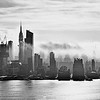 NY Skyline Breaking Fog