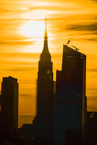 Empire State Building Golden Sunrise