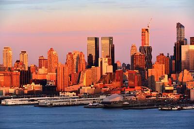 Manhattan Skyscrapers at Sundown