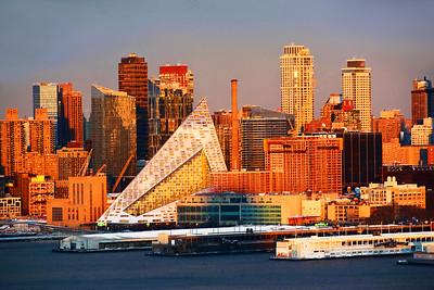NYC West Side Sundown Cityscape
