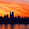 NY Skyline Valentine Sunrise