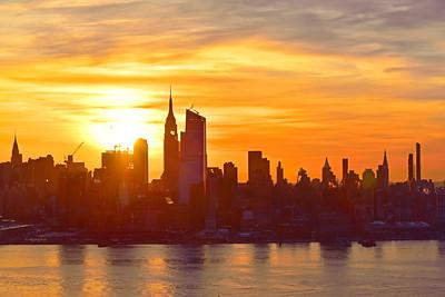 NYC Cloudy Sunrise