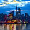 NY Skyline Dawn Reflections