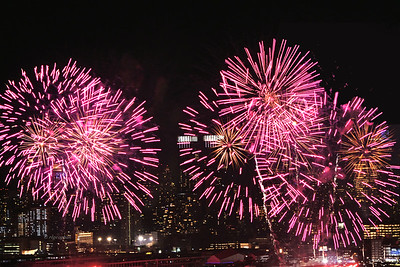 NYC Chinese New Year Fireworks Pink