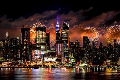 NYC July 4th Fireworks Drama