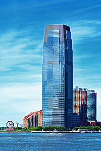 Jersey City: Colgate Clock and Goldman Sachs