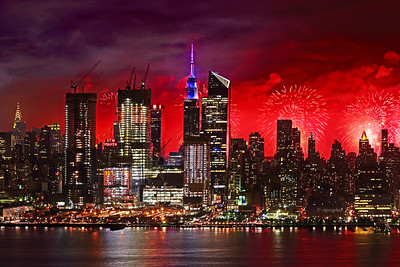NYC Fireworks 2017 -Final Curtain Call