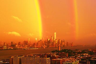 Hudson River NY-NJ Sundown Rainbow
