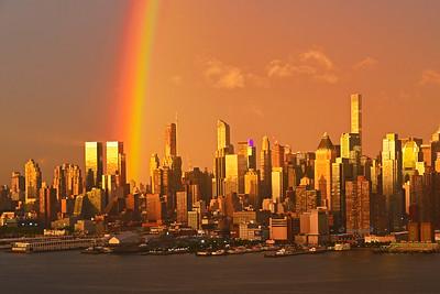 NYC Sundown Rainbow