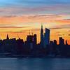 NYC Skyline Cloud-streaked unrise