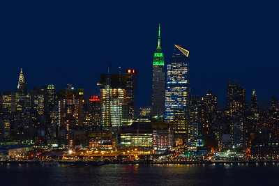 NY Skyline St Patricks Day