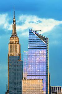 NYCSkyscraper Sundown Pastel