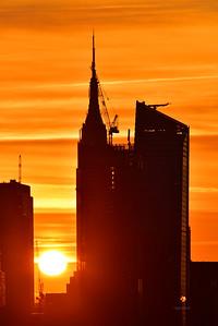 NYC Skyscraper at Sunrise