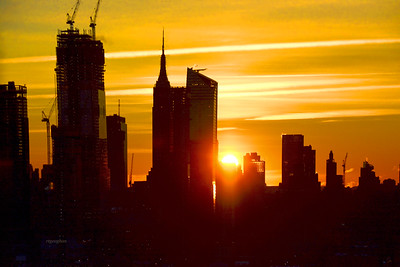 NYC Black and Gold at Sunrise
