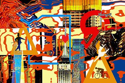Spirit of New York Abstract