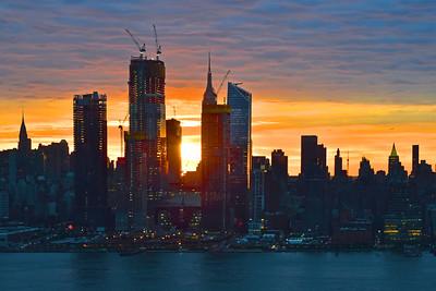 NYC Blue Sunrise