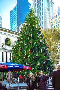 NYC Bryant Park Holiday Tree