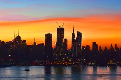 NYC Dawn Silhouette
