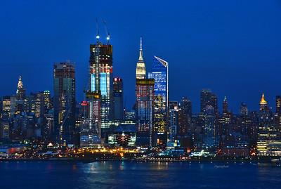 NYC Skyline Twilgiht Hour