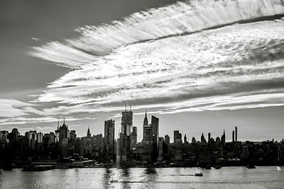 NYC Early Morning Skies in Black and White