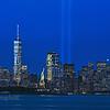 Liberty and Trbiute Lights Cityscape