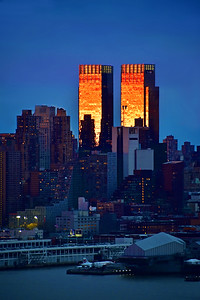NYC Sundown Gold and Twilight Blues